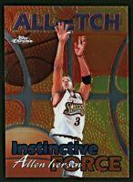 Allen Iverson 1999-00 Topps Chrome All-Etch Instinctive Force #AE18 HOF 76ers