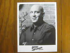 STEVE   WILKOS     The  Jerry  Springer  Show   Signed  8   X 10   B & W   Photo