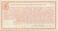 1887 Western New York & Pennsylvania Railroad stock certificate share