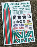 RC Alitalia stickers decals 1/18 losi mini xray 18th