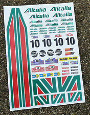 RC ALITALIA Adesivi Decalcomanie 1/18 Losi Mini Xray 18A