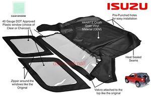 Isuzu Amigo / Rodeo 1998 1999 2000 2001 2002 convertible Soft Top Clear Window