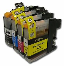4 Ink Comp Brother LC-101 Lc-103 Multi-Function MFC-J285DW MFC-J470DW J475DW