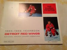 ExMint Authentic Detroit Red Wings Yearbook 1965-1966