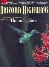 ARIZONA HIGHWAYS ~ July 2002 ~ Hummingbirds