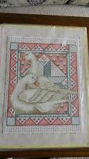 Completed Elsa Williams Wool Needlepoint Goose Down Quilt Sampler Jca 18x14 New