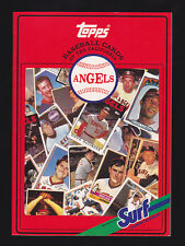 "1987 ""Surf Detergent"" book for California Angels (Ryan)"