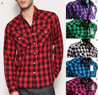 NWT CHECK Western SNAP Cowboy Long Sleeve Shirt plaids top Rock men S M L XL 2X