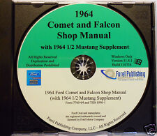 1964 1/2 Mustang, Comet and Falcon Shop Manual (CD-ROM)