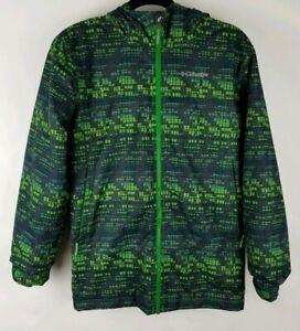 COLUMBIA Boys Large Wrecktangle Waterproof Insulated Hood Green Jacket Coat