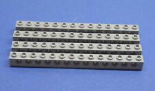 LEGO 4 Technik Technic Lochstein 1x14 neuhell grau new grey hole brick 32018