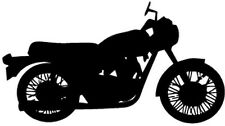 """TRIUMPH BONNEVILLE  MOTORCYCLE Vinyl Decal Sticker-6"""" Wide White Color"""