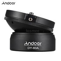 "Andoer DSLR Camera Panoramic Tripod Leveling Base Photography 1/4"" 360°Ball Head"