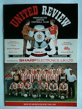 MINT 1986/87 Manchester United v Red Star Belgrade Friendly