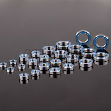 24PCS Team Losi TEN-SCTE Ball Bearing Kit BLUE Rubber Sealed Bearing