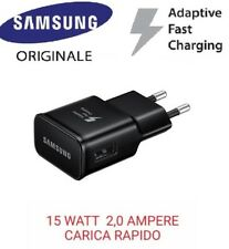 CaricaBatterie Rapido 15w 2A Originale Samsung NERO Fast Charging EP-TA20EWEG