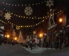Einkaufsstrasse Weihnachten Leuchtbild LED Bild Leinwandbild Wandbild Poster