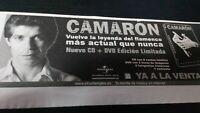 Camarón. Vuelve La Leyenda Del Flamenco. Nuevo Cd.. Anuncio