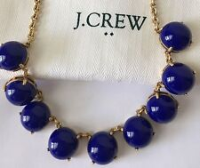 NWT J. Crew Bubble Stone BYZANTINE BLUE Necklace with dust Bag