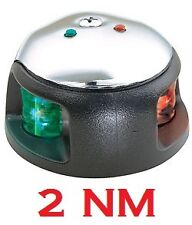 2NM Attwood LED  Bi-color Bow Navigation Light Red Green 3540-7 2 Nautical Mile
