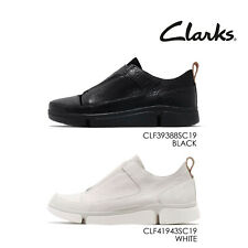 Clarks Tri Pure Leather Women Casual Slip On Loafers Shoes Sneakers Pick 1