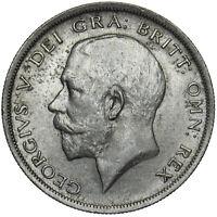 1916 HALFCROWN - GEORGE V BRITISH SILVER COIN - V NICE