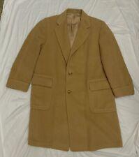 VTG Marshall Field & Co. Malcolm Kenneth Men's 42S Tan Camel Hair Overcoat USA