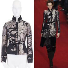 runway YVES SAINT LAURENT TOM FORD chinois oriental jacquard belted jacket S