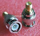 2pcs Adapter BNC plug male to SMA female jack RF connector straight