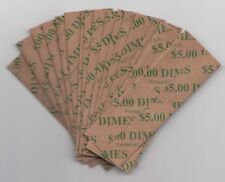 Heavy Duty Flat Coin Wrappers US Dime Size Bulk Box of 1000 Easy Pop Out Kraft