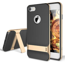 Gold Shockproof Hybrid Kickstand Bumper Rubber Case Cover For iPhone 7 Plus