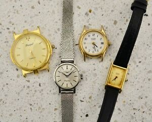 Vintage ladies watch lot (x4) including Longines and Citizen