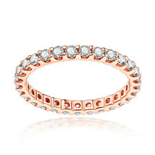 Round 1.2ct Moissanite Halo Bands Luxurious Solid 10K Rose Gold Gemstone Ring