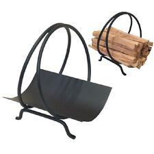 Kindling Holder Ring made from steel for shorter kindling, wood holder