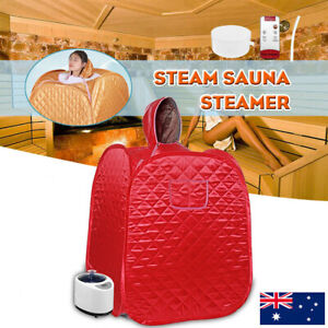 1KW 2.68L Portable Steam Sauna Tent Home Spa Body Loss Weight Detox Therapy AU