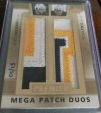 Patrice Bergeron Milan Lucic 2014-15 Premier Mega Patch Duos /15 PMP2-BL