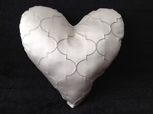 LARGE Handmade READY-FILLED Champagne ZED Heart Cushion (Valentine Gift)