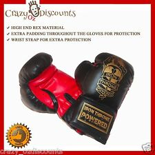 BOXING GLOVES 8 OZ FIGHT THAI CARDIO MMA KICK BOXING PUNCHING BAG PUNCH GEAR PRO