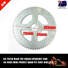 T8F Chain 64T Rear Sprocket Cog 49cc Mini PIT Pocket Rocket Quad Drit Bike ATV