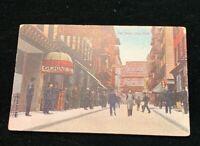 Pell St. Chinatown New York City c1910 Postcard