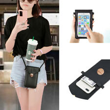 For LG/iPhone/Samsung Crossbody Shoulder Bag Wallet Card Slot PU Leather Purse