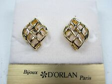 Lead and Nickel Free 1486 D'Orlan Gold Plated Pierced Earrings -
