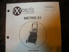 Exmark metro 21 198,185 & higher parts manual ipl 850649