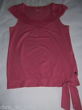 QS by s.Oliver T-Shirt Kurzarm Altrosa Pink Größe XS 34