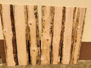 Bohlen Bretter Massiv Holz Einseitig besäumt Mit Baumkante 110cm X 20cm X 2,0cm