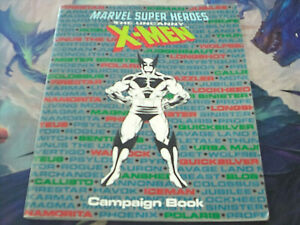 Marvel Super Heroes TSR The Uncanny X-Men Campaign Roleplaying Game RPG Book