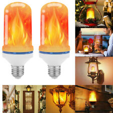 2 Pcs LED Dynamic Flame Effect Fire Light Bulb E27 Simulated Nature Flicker Lamp