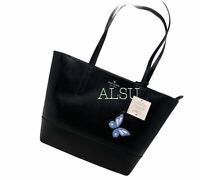 Kate Spade Adley Large Tote leather Black Butterfly Logo Women's WKRU6978