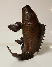 Koi Fish Statue Sculpture Bronze Japanese