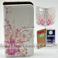 For OPPO Series - Purple Orchid Theme Print Wallet Mobile Phone Case Cover
